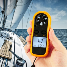 Portable Anemometer Anemometro Thermometer GM816 Wind Speed Gauge Meter Hand-held Windmeter 30m/s LCD Digital Measure Tool