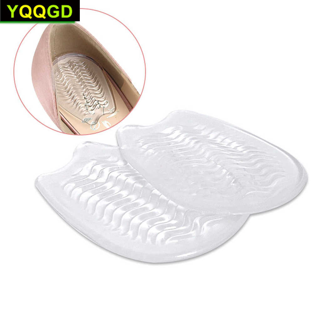 1 çift silikon jel ayaklar yastık ayak topuk koruyucu elastik yarım astarı ayakkabı pedi ayak ağrı kesici ayakkabı aksesuarları