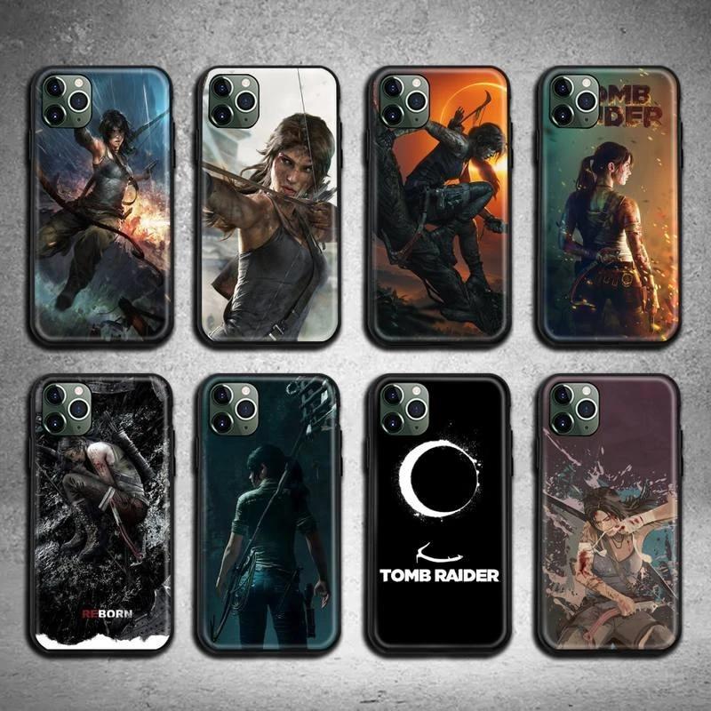 tomb raider Phone Case for iphone 12 pro max mini 11 pro XS MAX 8 7 6 6S Plus X 5S SE 2020 XR case