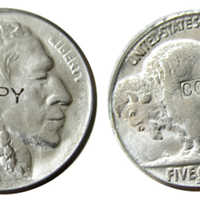 Американская копия монеты 1929S Buffalo Nickel, пять центов