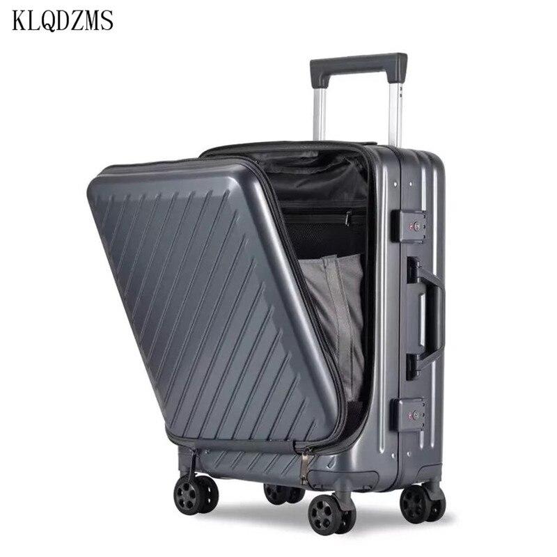 KLQDZMS 20/24 дюйма пк багаж на ролликах с сумкой для ноутбука для мужчин и женщин посадка в бизнес класс на колесиках чемодан с колесиками