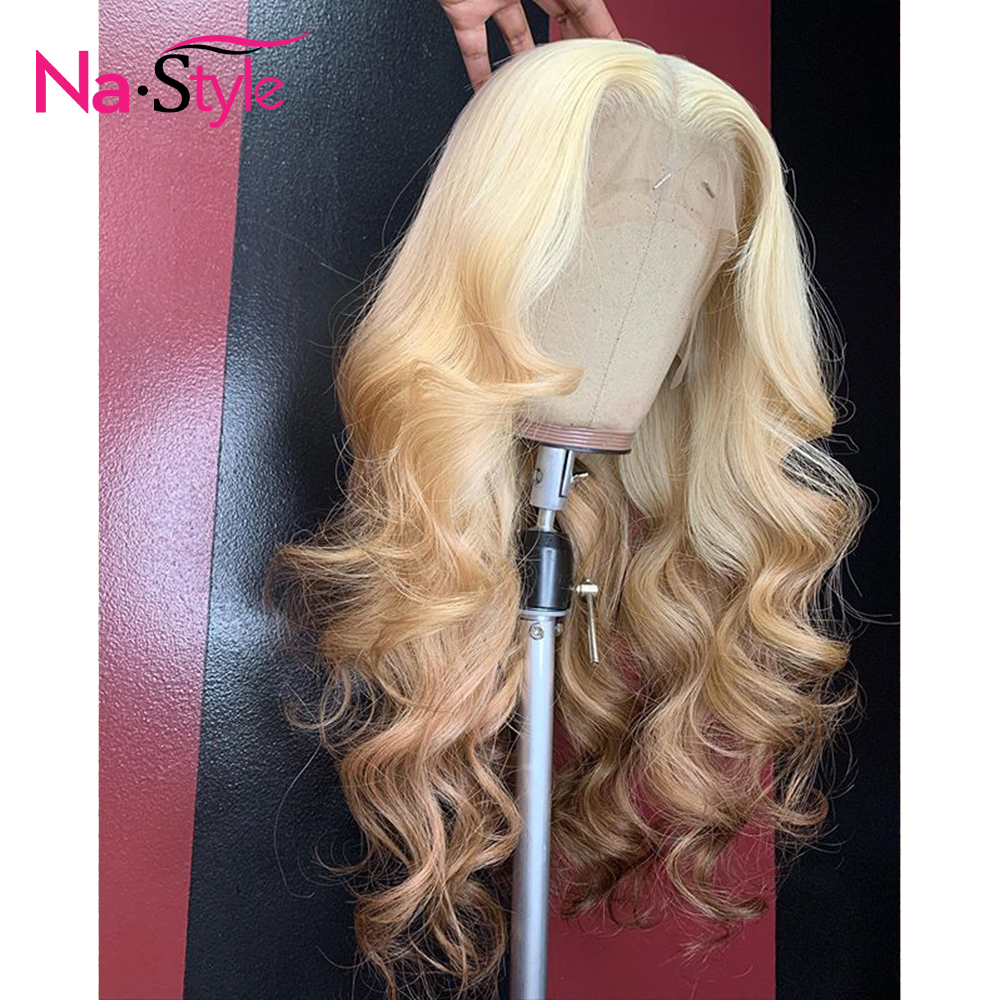 613 Wig Ombre Human Hair Wig For Black Women Body Wave Transparent Lace Frontal Wig Pre Plucked With Baby Hair Nastyle 130 Remy image