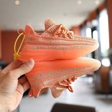 Zapatillas deportivas luminosas para niños y niñas, deportivas de malla brillante para correr, Tenis informales, 2020