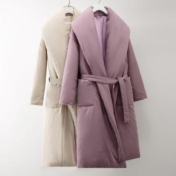 Nouveau manteau élégant long pour femme, tient chaud, veste épaisse, imperméable, parka, hiver, collection 2020 1
