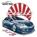 JumpTime 13 см x 12,8 см для Honda Civic FD JDM японская виниловая наклейка автомобильные наклейки водонепроницаемые аксессуары автомобильный бампер окон...