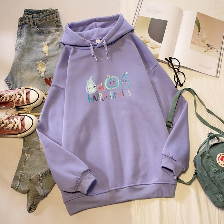 Autumn Boys Girls Hooded Colorful Fruit Pears Novelty Baseball Jacket Sweatershirt