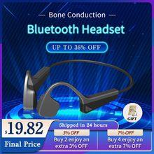 Fones De Ouvido Esportivos Sem Fio Bluetooth De Condução óssea V11 Fones De Ouvido Esportivos Estéreo De Alta Definição Portáteis Com Função De Redução Automática De Ruído à Prova De água E Suor IPX5