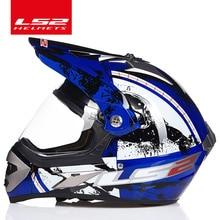 LS2 MX433 внедорожный мотоциклетный шлем с ветрозащитным щитом мотокросса шлем костюм для мужчин и женщин одобренный ECE