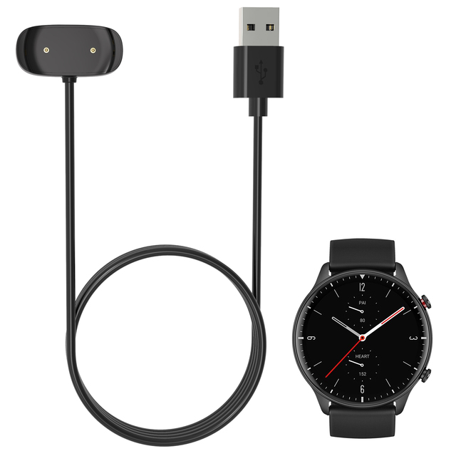 Smartwatch Dock Charger Adapter USB Charging Cable Cord for Amazfit GTR 2(GTR2) GTS 2 mini Zepp E Square/Circle Smart Watch