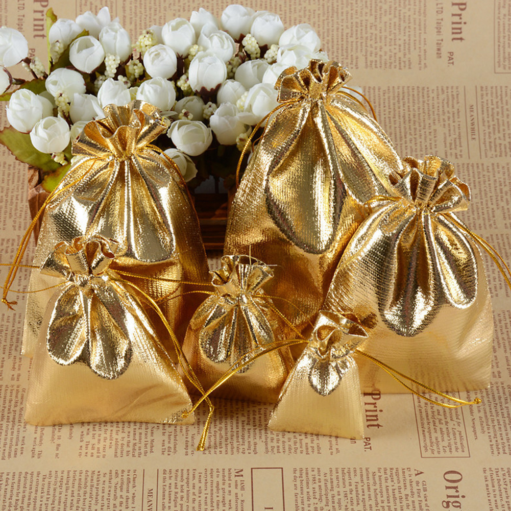 1//100pcs Organza Wedding Party Favor Gift Candy Bags Jewellery Pouches 2 Sizes