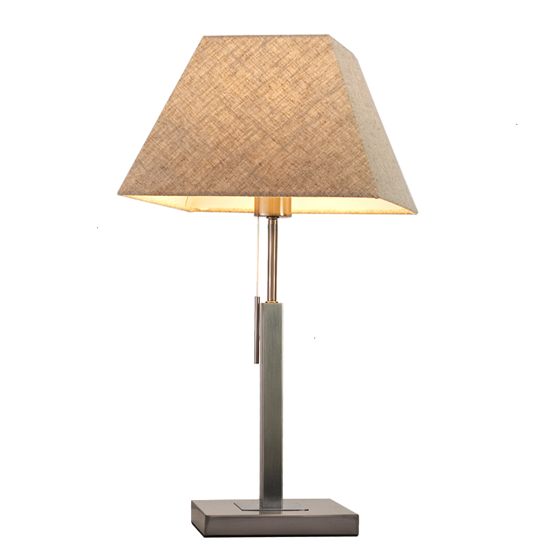 Işıklar ve Aydınlatma'ten Sıra Lambaları'de Modern masa lambası yatak odası başucu özgünlük İskandinav kırsal masa lambası avrupa tarzı sadelik kumaş sanat rahat Lampada Scrivania title=