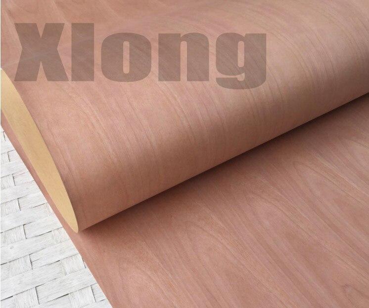 Length:2.5Meters Width:55cm Red Cherry Stitching Log Bark Wood Veneer