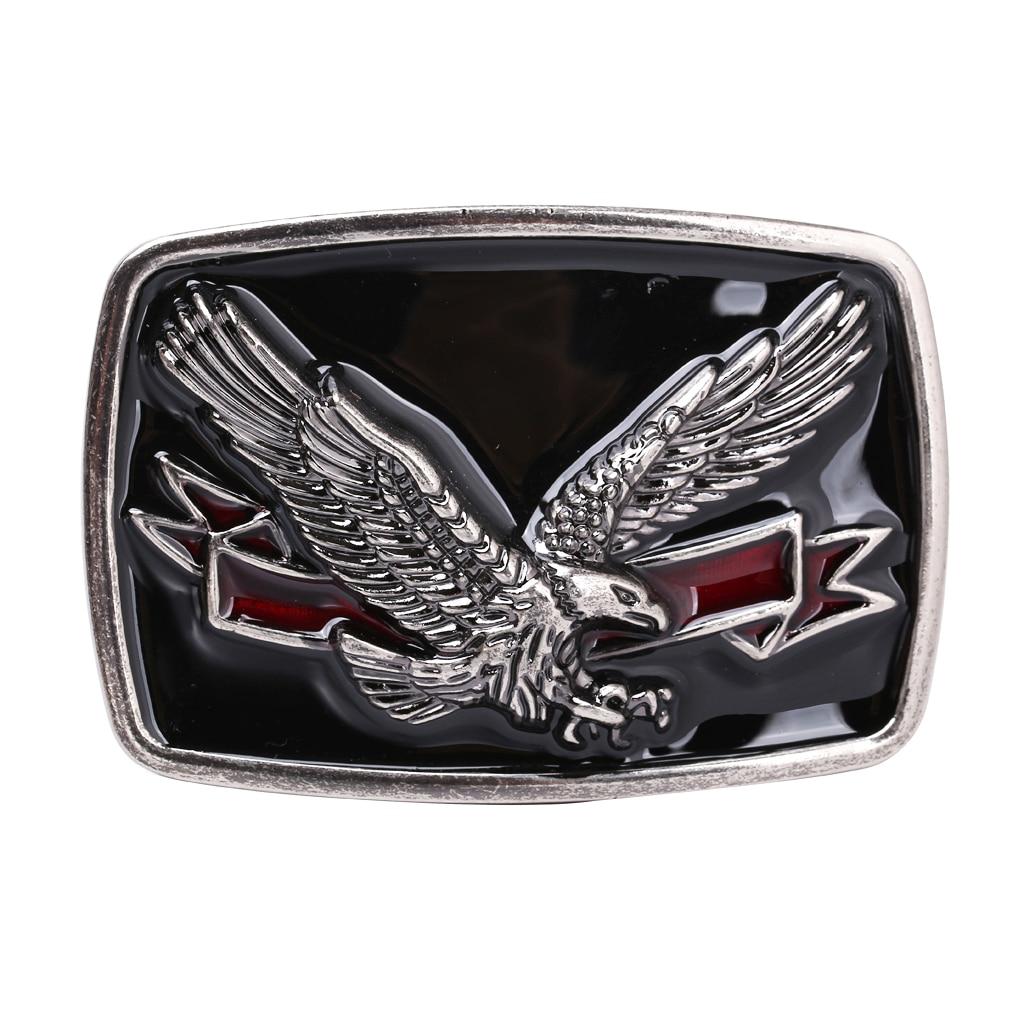 Western Cowboy Rodeo Zinc Alloy Eagle Belt Buckle Jeans Accessories Zinc Alloy Belt Buckle Suitable For Belt Width 3.6-3.9cm