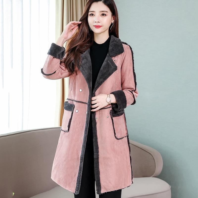 casual long coat new fashion winter womenfashion sleeve loose wool warm Parkes ladies jacket