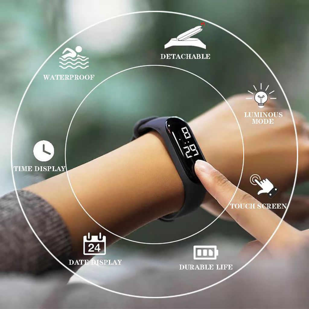 Erkek kadın LED elektronik spor sensörü aydınlık saatler moda saatler su geçirmez rahat dijital saat izle часы для спорта L58