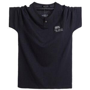 Image 5 - Além de tamanho 5xl 6xl homens grande altura camiseta mangas curtas oversized t camisa de algodão masculino grande t camisa de verão apto t verão topos t