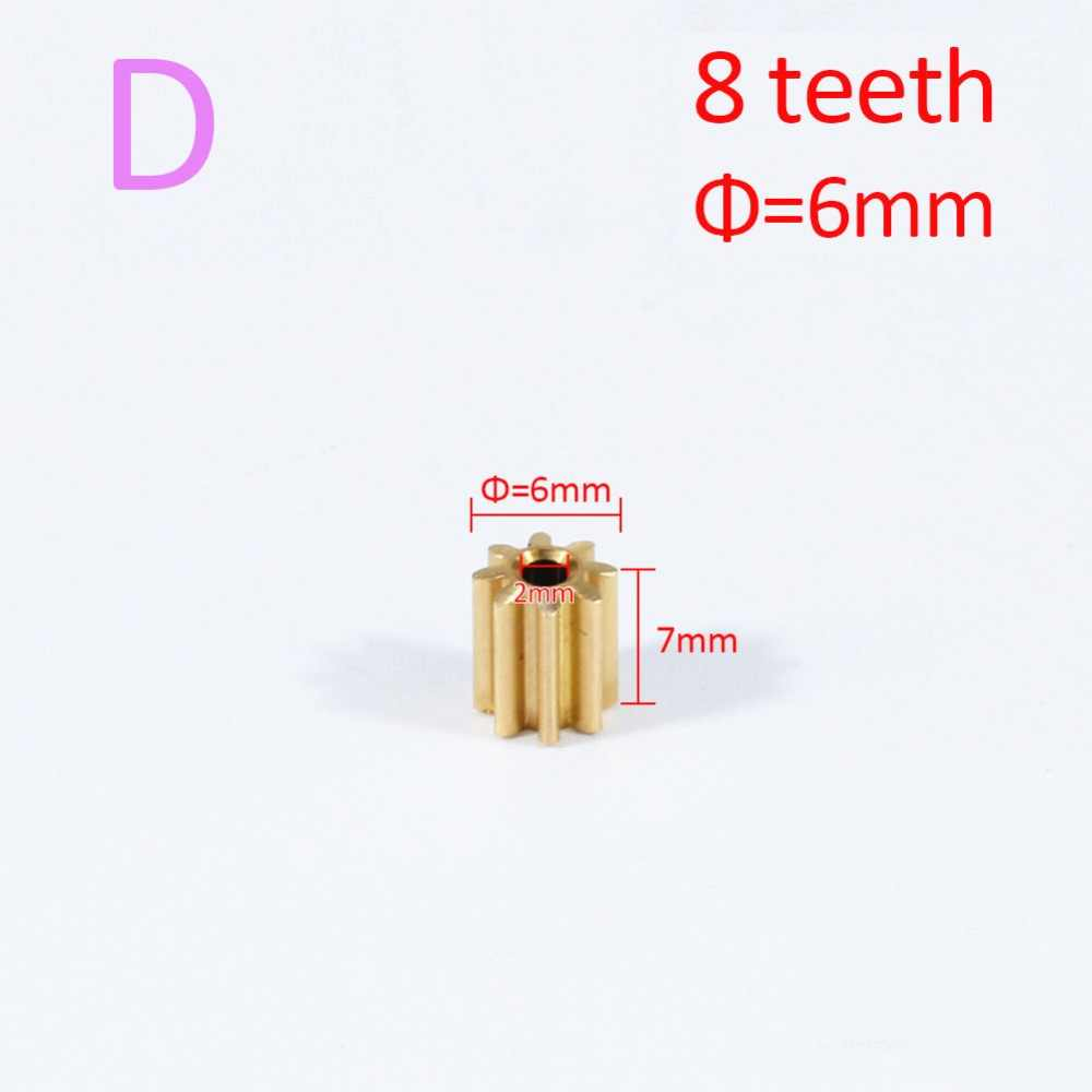 AZGIANT 1PC 8/9/10/11/12 ฟันทองแดงมอเตอร์เกียร์สำหรับ FC280 260 130 140 มอเตอร์มาตรฐานสากล Universal Pinion ทองเหลือง
