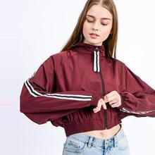 Outdoor Sport Jacket Coat Women's Sleeve Pulling Contrast Long Sleeve Jacket Baseball Wear Coat Streetwear Clothing plus lace contrast sleeve coat