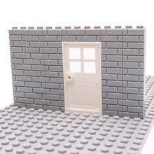 50 шт кирпичи для стен города moc house толстые 1*2 1*4 l точки