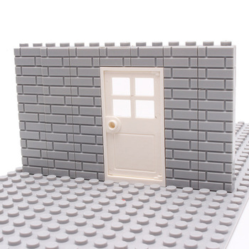 50PCS City Wall Blocks Bricks for MOC House Thick 1*2 1*4 L Dots DIY City Accessories Door Window Construction Brick Walls jansen пэрси дэйк city sneakerz майкл маршалл dj antoine mad mark electro house clubbing 2 cd