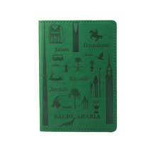 40PCS / LOT High Quality Emboss Saudi arabia Passport Cover