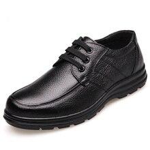 새로운 2020 고품질 정품 가죽 신발 남자 플랫 패션 남자 캐주얼 신발 브랜드 남자 부드러운 편안한 레이스 블랙 ZH740