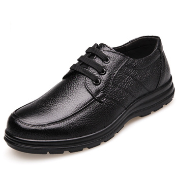 New 2020 High Quality Genuine Leather Shoes Men Flats Fashion Men's Casual Shoes Brand Man Soft Comfortable Lace up Black ZH740