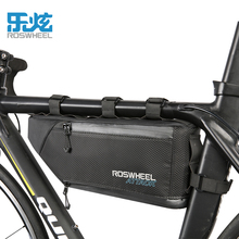 цена на Roswheel 4L Expandable Large Capacity Bicycle Front Beam Bag Bike Front Frame Top Tube Triangle Bag Waterproof Cycling Pannier