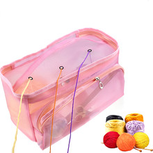 Household Knitting Bag Yarn Storage Bag Portable Tote Storage Case for Crocheting Hook Knitting Needles Sewing Accessories(China)