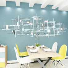 Simple line geometry Mirror Acrylic wall stickers Living room wall decoration Originality 3d DIY Wall stickers Home decor