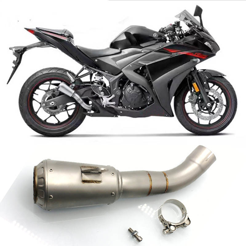 for yamaha yzfr3 yzf r3 yzf r3 2016 2015 2016 2017 muffler motorcycle accessories exhaust pipe slip on motorbike parts