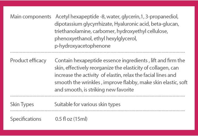 Argireline Collagen Peptides Face Serum Cream Anti-Aging Wrinkle Lift Firming Whitening Moisturizing Skin Care VIBRANT GLAMOUR 4