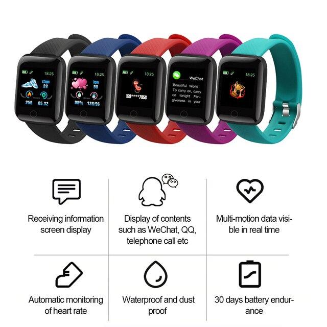 116PLUS Smart Watch Bracelet Color Screen Heartrate Blood Pressure Monitoring Track Movement IP67 Waterproof Smartwatch With App 2