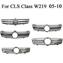 Передняя решетка бампера верхняя решетка для Mercedes Benz W219 класс CLS CLS350 CLS500 CLS550 2005 2006 2007 2008 2009 2010 Diamond GTR