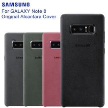 סמסונג המקורי נגד לדפוק הרשמי אלקנטרה טלפון מקרה עבור סמסונג גלקסי הערה 8 N9500 Note8 SM N950F נייד טלפון כיסוי