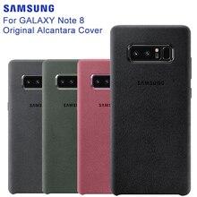 SAMSUNG oryginalny Anti knock oficjalny futerał na telefon Alcantara do Samsung Galaxy Note 8 N9500 Note8 SM N950F na telefon komórkowy
