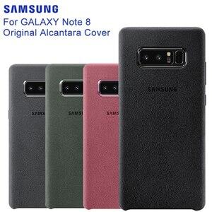 Image 1 - SAMSUNG оригинальный прочный армированный чехол для телефона официальный Alcantara чехол для телефона Samsung Galaxy Note 8 N9500 Note8 SM N950F мобильный телефон чехол