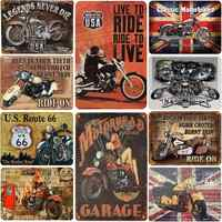 retro motorcycle signs vintage metal tin plate classic iron picture decor wall of garage bar cafe home gym