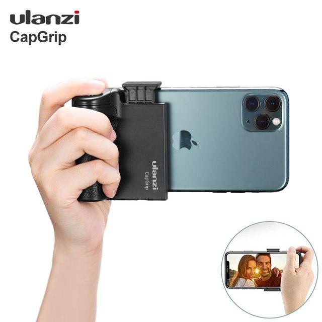 Беспроводной Bluetooth стабилизатор для смартфона Ulanzi CapGrip, ручка для селфи, стабилизатор для телефона, держатель, спуск затвора, винт 1/4