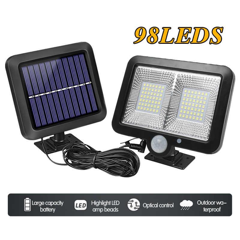 100 Leds Solar Lamp Ip65 Waterproof Sun Power Wall Lights Pir Motion Sensor Outdoor Emergency Light For Garden Industrial Garage Solar Lamps Aliexpress