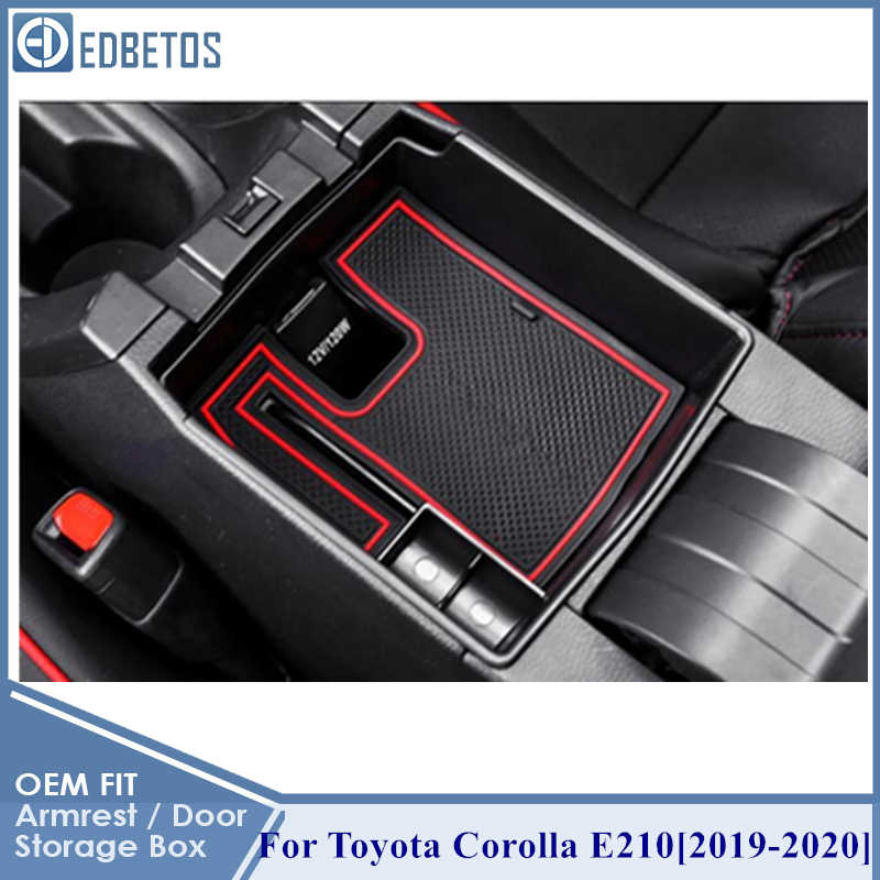 YEE PIN Corolla E210 Hatchback 2019 center console glove box for armrest organiser storage box with non-slip mat car accessories