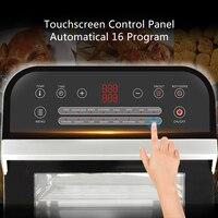 BioloMix 12L 1600W Air friteuse four grille-pain rôtissoire et déshydrateur avec LED écran tactile numérique, 16-en-1 four à poser 5