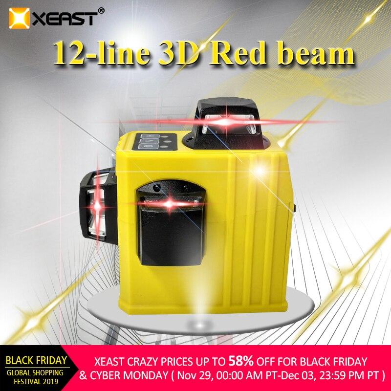 Linhas de Nível de Laser Poderosa ao ar Xeast Auto-nivelamento 360 Degre Horizontal & Vertical Cruz Livre Pode Usar Detector Xe-61a 12 3d