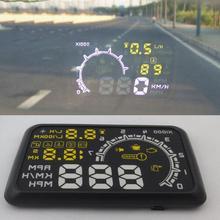 VODOOL автомобильный HUD Дисплей скорость пробега система Alam проекционный дисплей помощь новичкам контроль Избегайте превышения скорости