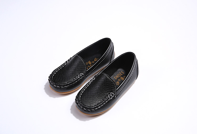 H40dffc14ac4c46b3985a2ae80025f6b77 - SKOEX Boys Girls Shoes Slip-on Loafers Oxford PU Leather Flats Soft Kids Baby First Walkers Mocassins Children Toddler Sneakers