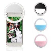 2020 anillo de Flash LED Universal para Selfie Lumiere teléfono portátil LED Selfie lámpara luminosa anillo Clip para teléfono celular Smartphone