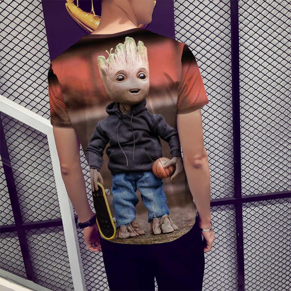 ファッション半袖 Tシャツ男性若い Groot アベンジャーズヒーロープリントトップ Tシャツ男性カジュアル O ネック Tシャツユニセックス Tシャツ 2019