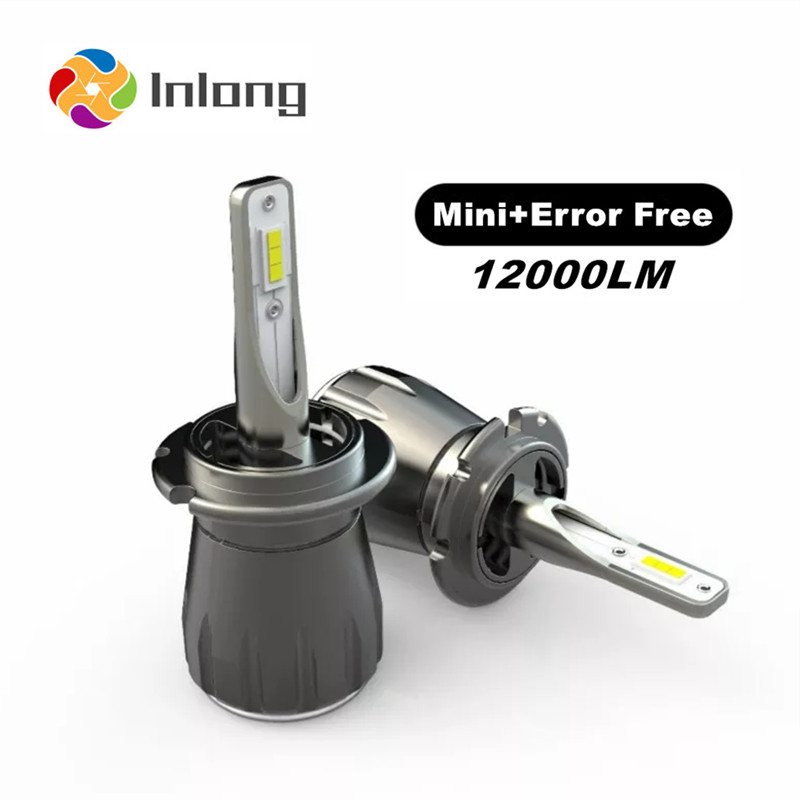 Inlong With SAMSUNG CSP Mini H4 LED H7 12000LM H1 H11 Led Lamp H8 H9 9005 HB3 9006 HB4 Car Headlight Bulbs 6000K Fog Lights 12V