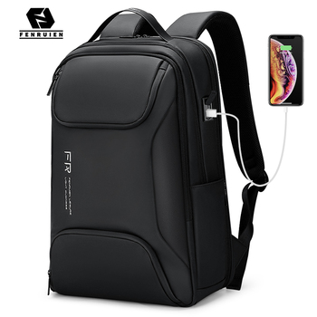 Fenruien Men 15.6 Inch Laptop Backpack Waterproof School Backpacking USB Charging Travel Business Backpacks Large Capacity New fenruien brand 17 inch laptop backpack men usb charging travel backpacking school bag nylon waterproof anti theft backpacks