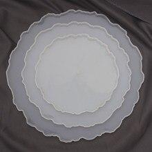 Uds montaña redonda moldes para la fundición de Resina de silicona Montaña Rusa moldes para soporte pastel resina bandeja regalo molde Kit